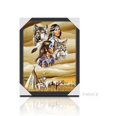 3D Picture Paper Frame Lenticular Printing Services PET Custom Design Stand Or Hang Decoration