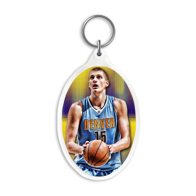 Custom 3D Acrylic Key Rings with 3.7*5.7cm 3D Lenticular Printing Service For  Gifts