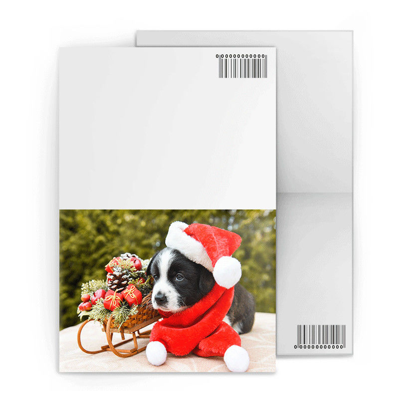 New Year Greeting Custom Lenticular Cards PET / PP CYMK Lenticular Image Printing