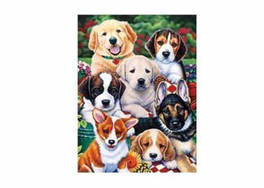 Κίνα Dogs Animal 3D Lenticular Poster For Hotel Decoration With 40x40cm Size εργοστάσιο